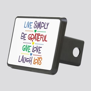 Live Simply Affirmations Rectangular Hitch Cover