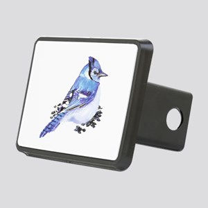Original Watercolor Blue Jay Rectangular Hitch Cov