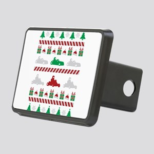 go kart ugly christmas swe Rectangular Hitch Cover