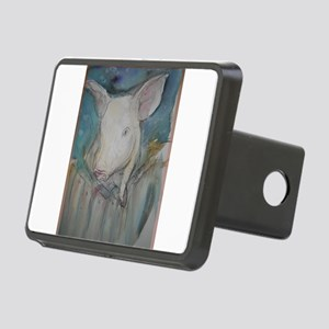 Piglet, animal art! Rectangular Hitch Cover
