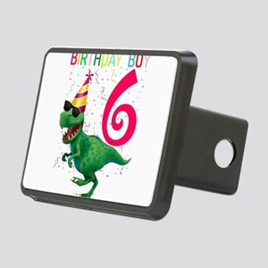 Dinosaur T Rex 6 Year Old Rectangular Hitch Cover