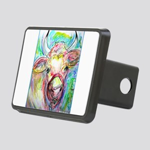 Cow! Colorful, art! Rectangular Hitch Cover