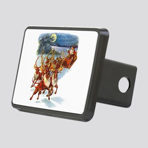 Santa & His Flying Reindee Rectangular Hitch Cover