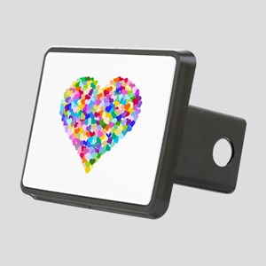 Rainbow Heart of Hearts Rectangular Hitch Cover