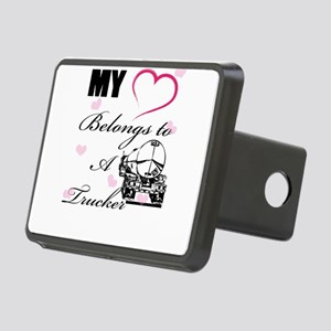 My Heart Belongs To A Trucker Hitch Cover