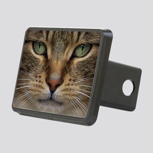 Tabby Cat Face Rectangular Hitch Cover