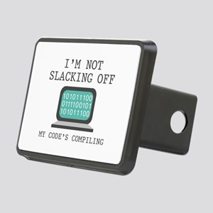 I'm Not Slacking Off Rectangular Hitch Cover