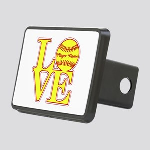 Personalized Love Softball Hitch Cover