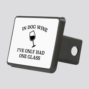 In Dog Wine Rectangular Hitch Cover