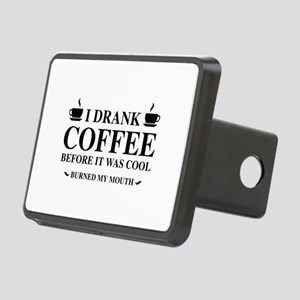 I Drank Coffee Rectangular Hitch Cover