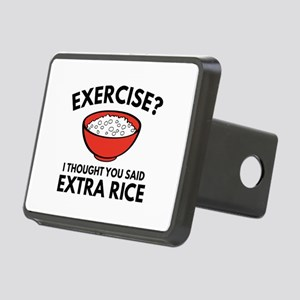 Exercise ? Extra Rice Rectangular Hitch Cover