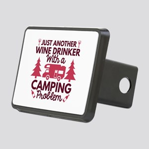 Wine Drinker Camping Rectangular Hitch Cover