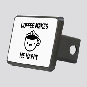 Coffee Makes Me Happy Rectangular Hitch Cover