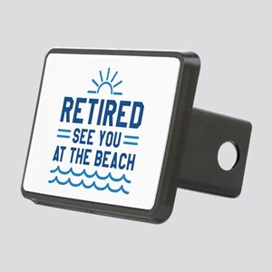 Retired See You At The Beach Rectangular Hitch Cov