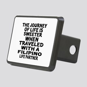 Traveled With Filipino Lif Rectangular Hitch Cover