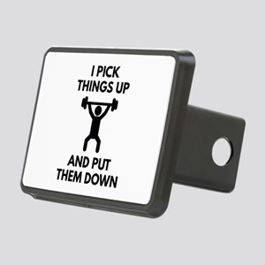 I Pick Things Up Rectangular Hitch Cover
