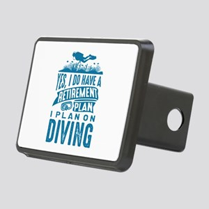 Retirement Plan Diving Rectangular Hitch Cover