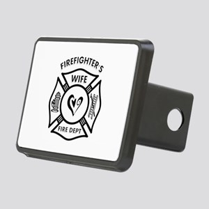 Firefighter Wife Rectangular Hitch Cover
