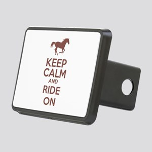 Keep calm and ride on Rectangular Hitch Cover