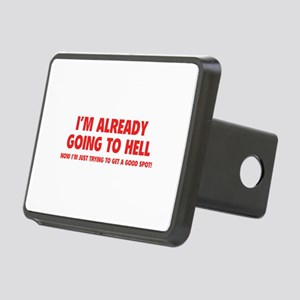 I'm already going to hell Rectangular Hitch Cover