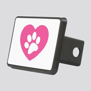 Heart Paw Print Rectangular Hitch Cover