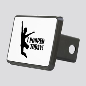 I Pooped Today! Rectangular Hitch Cover