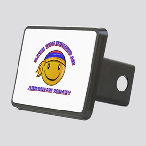 Cute Armenian Smiley Design Rectangular Hitch Cove
