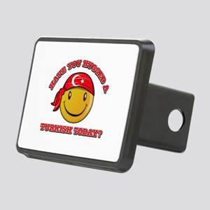 Cute Turkish Smiley Design Rectangular Hitch Cover