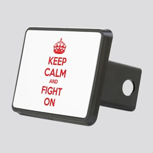 Keep calm and fight on Rectangular Hitch Cover
