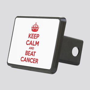 Keep calm and beat cancer Rectangular Hitch Cover