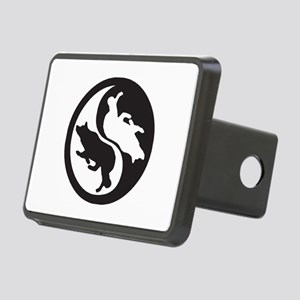 Border Collie Ying Yang Rectangular Hitch Cover