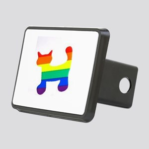 Rainbow cat Rectangular Hitch Cover