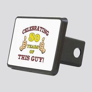 80th Birthday Gift For Him Rectangular Hitch Cover