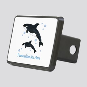 Personalized Killer Whale Rectangular Hitch Cover