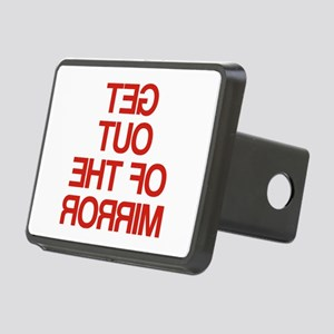 Get Out Of The Mirror Rectangular Hitch Cover