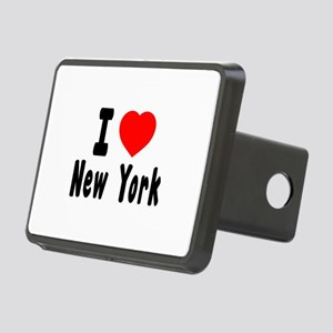 I Love New York Rectangular Hitch Cover