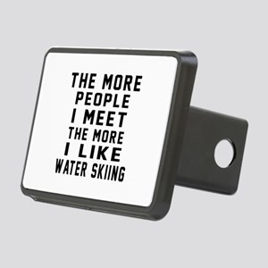 I Like More Water Skiing Rectangular Hitch Cover