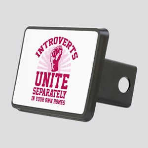 Introverts Unite Rectangular Hitch Cover