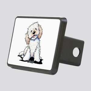 Smiling Doodle Puppy Rectangular Hitch Cover