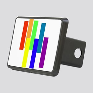 A Rain Side Affect Rainbow Rectangular Hitch Cover