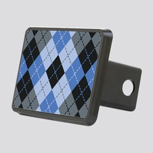 Blue Argyle Rectangular Hitch Cover