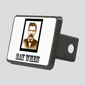 4-saywhenshirt Rectangular Hitch Cover