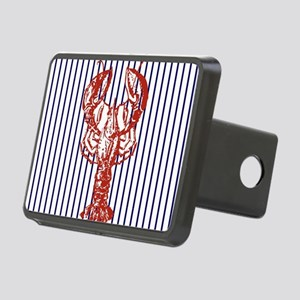 nautical stripes vintage l Rectangular Hitch Cover