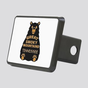 Great Smoky Mountains Bear Rectangular Hitch Cover