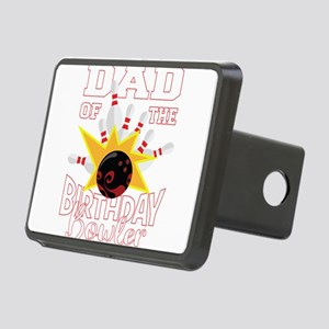 Dad Of The Birthday Bowler Rectangular Hitch Cover