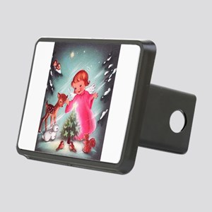 Vintage Christmas Image 4 Rectangular Hitch Cover
