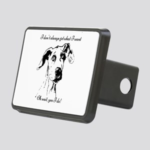 Fun Great Dane Dog Quote Rectangular Hitch Cover