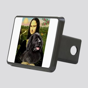 Mona & her Newfie Rectangular Hitch Cover