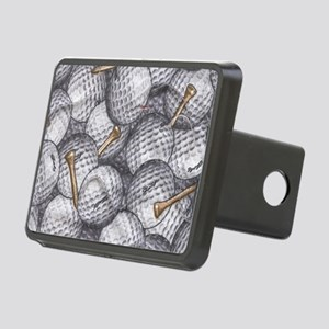 Golf Balls Rectangular Hitch Cover