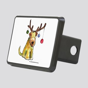 Wheaten terrier with Christmas Antlers Rectangular